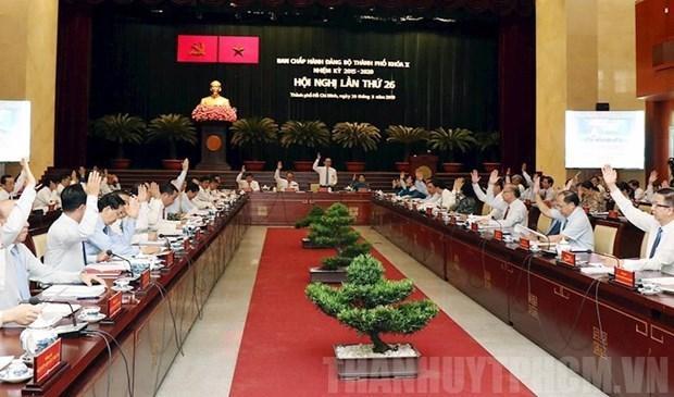 Cloture de la 26e reunion du Comite municipal du Parti de Ho Chi Minh-Ville hinh anh 1