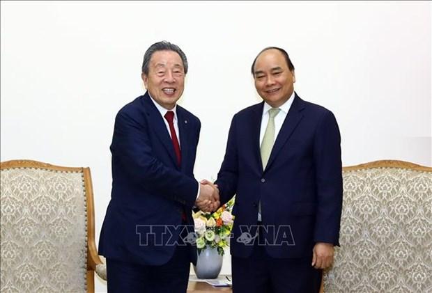 Le Premier ministre recoit le president du groupe japonais Maruhan hinh anh 1