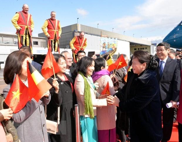 La presidente de l'AN Nguyen Thi Kim Ngan entame sa visite de travail au Parlement europeen hinh anh 1