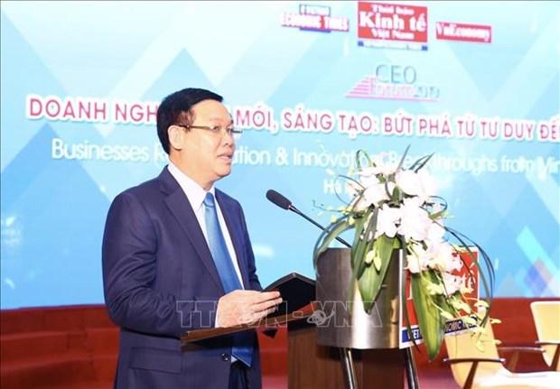 Le vice-Premier ministre Vuong Dinh Hue au Forum CEO 2019 hinh anh 1