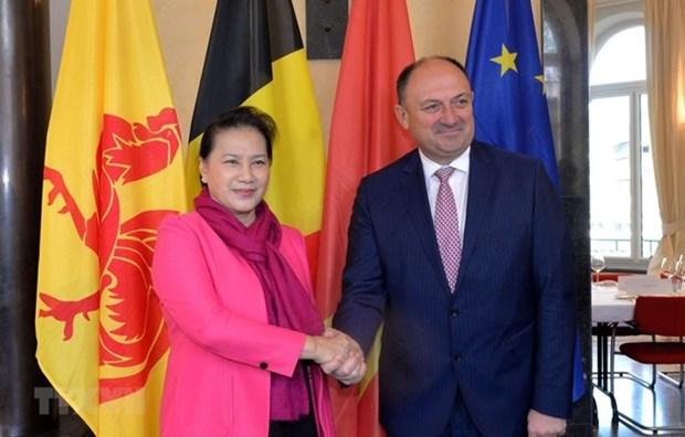 La presidente d'AN du Vietnam rencontre le ministre-president wallon hinh anh 1