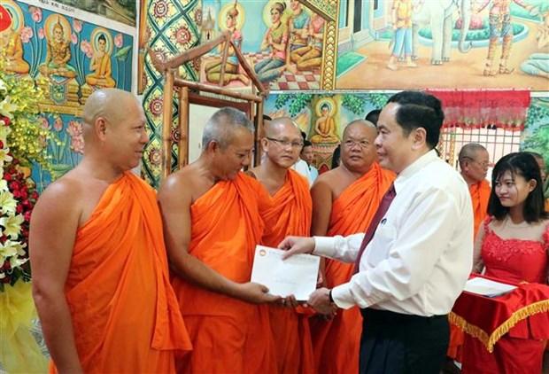 Fete du Nouvel An des Khmers : le president du CC du Front de la Patrie a Soc Trang hinh anh 1