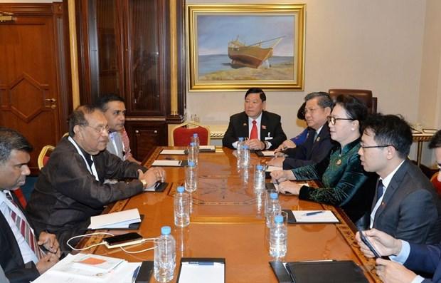 La presidente de l'AN Nguyen Thi Kim Ngan rencontre son homologue srilankais hinh anh 1