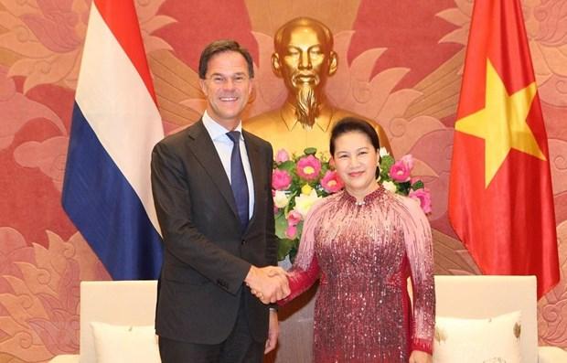 La presidente de l'AN Nguyen Thi Kim Ngan rencontre le Premier ministre neerlandais hinh anh 1