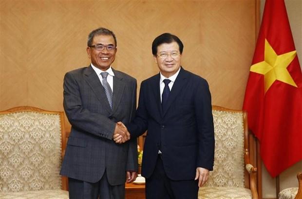 Le vice-PM Trinh Dinh Dung recoit un dirigeant du groupe Compal hinh anh 1