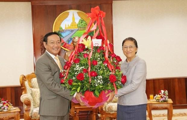 Le Vietnam felicite le Laos pour le Nouvel An traditionnel hinh anh 1