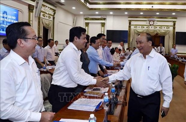 Le Premier ministre travaille avec des dirigeants de HCM-Ville hinh anh 1