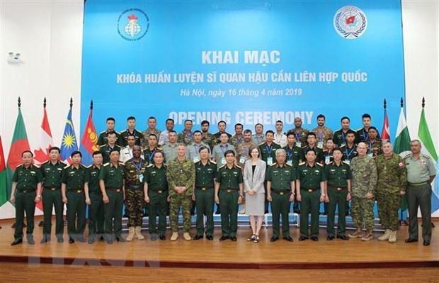 Ouverture d'un cours d'entrainement d'officiers de logistiques de l'ONU hinh anh 1