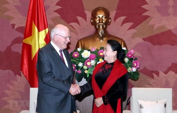 La presidente de l'Assemblee nationale affirme les liens vietnamo-americains hinh anh 1