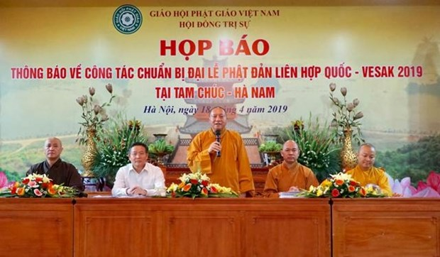 Le Vietnam accueillira a mi-mai la fete de Vesak 2019 hinh anh 1