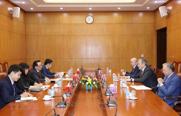 Une delegation du Parti communiste de la Federation de Russie en visite au Vietnam hinh anh 1