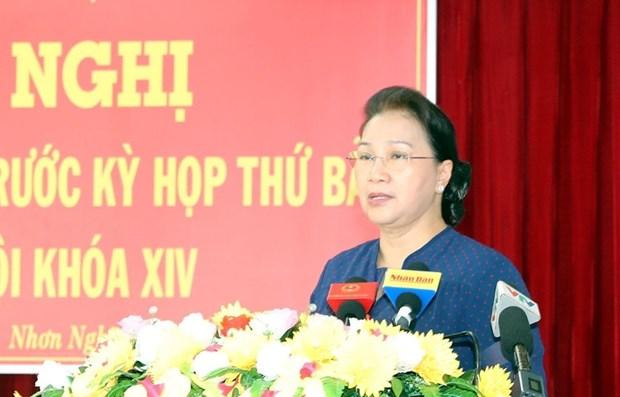 La presidente de l'AN Nguyen Thi Kim Ngan a l'ecoute des electeurs a Can Tho hinh anh 1