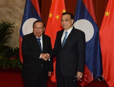 Le PM chinois rencontre le president laotien hinh anh 1