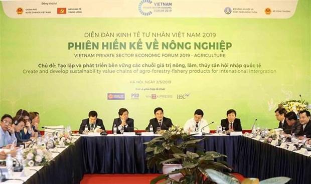Le Forum economique du secteur prive se concentre sur les chaines de valeur hinh anh 1