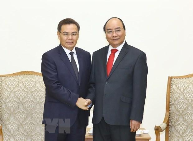 Le Premier ministre recoit des dirigeants laotiens et cambodgiens hinh anh 2