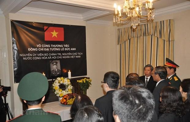 Ceremonies en memoire de l'ancien president Le Duc Anh a l'etranger hinh anh 1