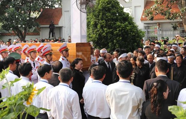 Ceremonie d'enterrement de l'ancien president Le Duc Anh a Ho Chi Minh-Ville hinh anh 1