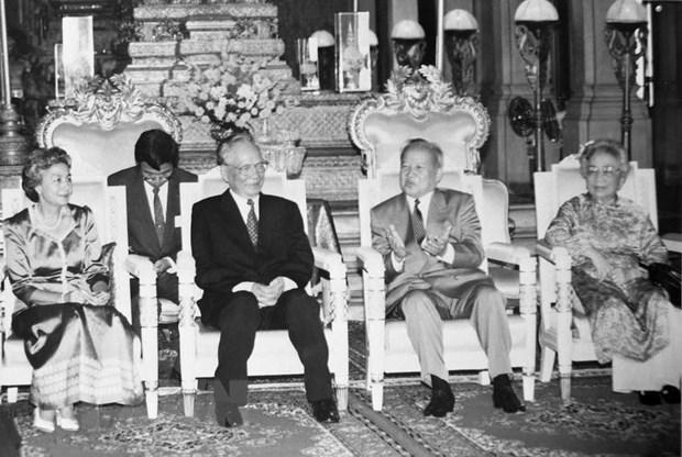 Deces de l'ancien president Le Duc Anh : Des dirigeants etrangers presentent leurs condoleances hinh anh 1
