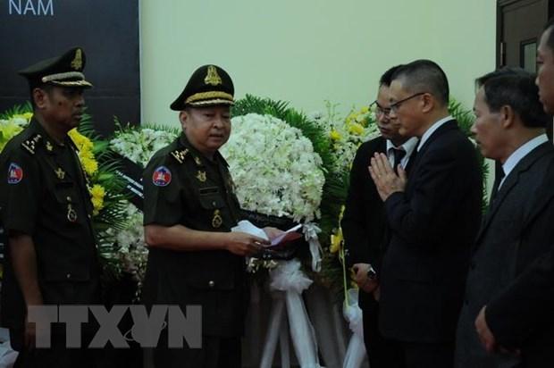 Des dirigeants etrangers rendent hommage a l'ancien president Le Duc Anh au Cambodge et en Egypte hinh anh 1