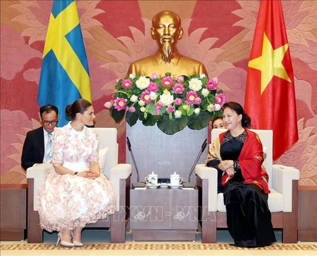 La presidente de l'AN recoit la princesse heritiere de Suede hinh anh 1