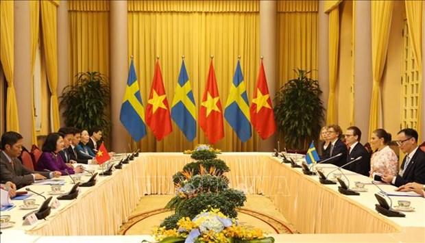Vietnam et Suede cherchent a promouvoir leur cooperation multiforme hinh anh 1