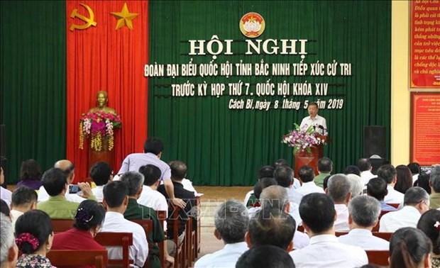 Des dirigeants du Parti et de l'Etat rencontrent leur electorat hinh anh 1