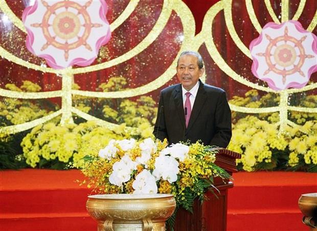 La Journee du Vesak 2019 s'acheve par la Declaration de Ha Nam hinh anh 3