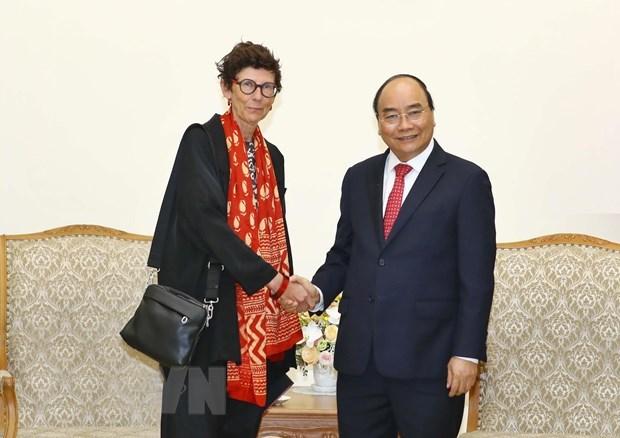 Le Premier ministre recoit l'ambassadrice de Norvege au Vietnam hinh anh 1