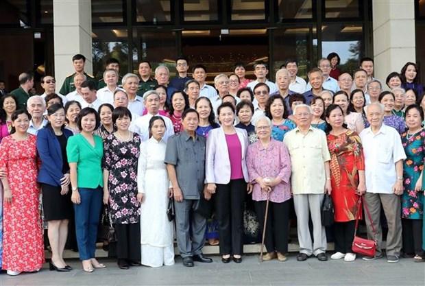 La presidente de l'AN rencontre des habitants de son quartier de domicile hinh anh 1