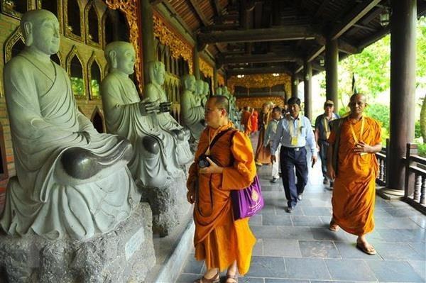 Des delegues a la fete de Vesak visitent la province de Ninh Binh hinh anh 1