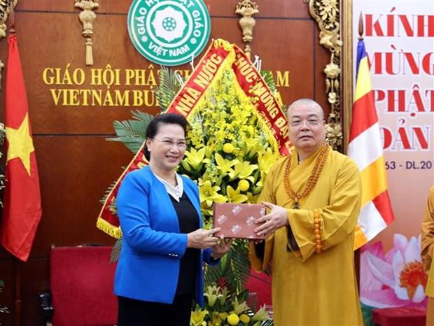 Vesak 2019 : felicitations au conseil d'administration du CC de l'Eglise bouddhique du Vietnam hinh anh 1