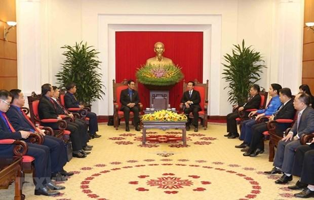 Vietnam-Laos : renforcement de la cooperation entre les jeunes hinh anh 1