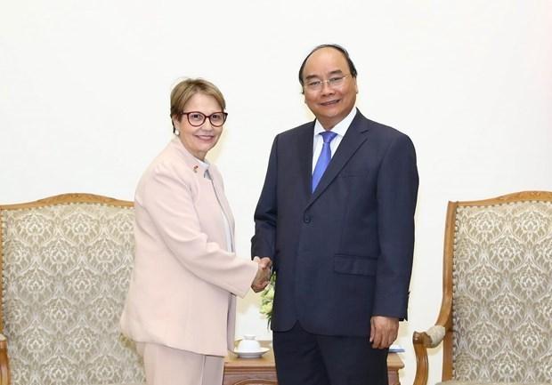 Le PM Nguyen Xuan Phuc invite le Bresil a promouvoir le commerce agricole hinh anh 1