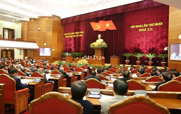 Le 10e Plenum du Comite central du Parti s'acheve a Hanoi hinh anh 1