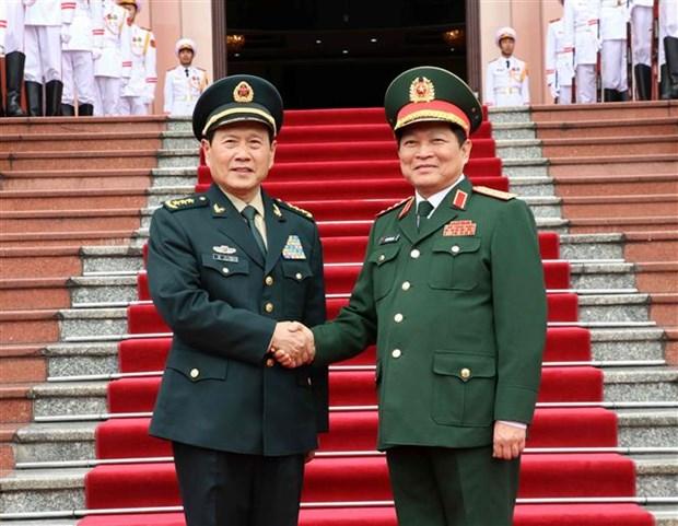 Vietnam-Chine : entretien entre les ministres de la Defense hinh anh 1