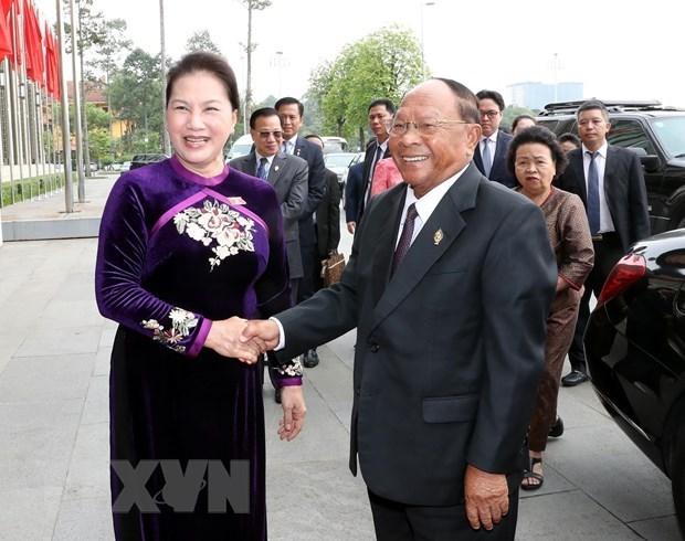 Le president de l'AN cambodgienne conclut sa visite au Vietnam hinh anh 1