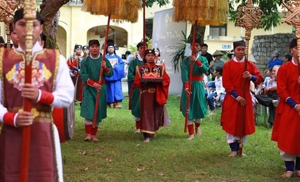 Un rituel seculaire du festival Doan Ngo reconstitue a Hanoi hinh anh 1