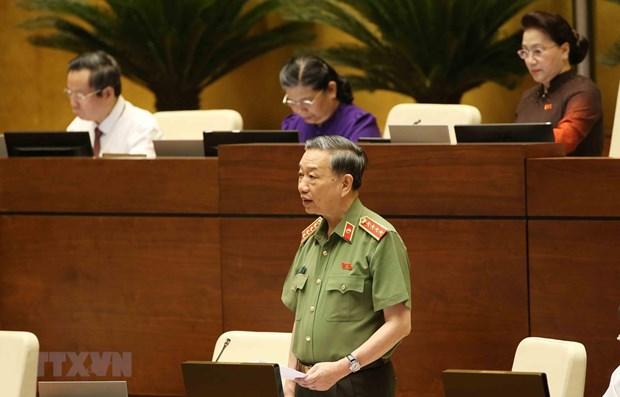 Le ministre de la Securite publique To Lam monte au creneau hinh anh 1