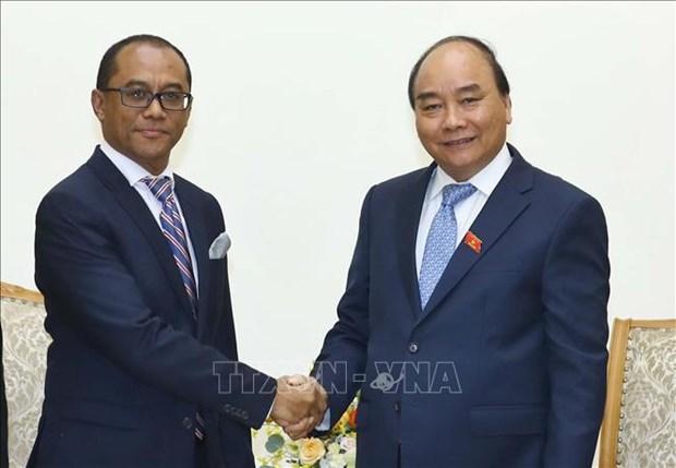 Le PM recoit le ministre des AE et de la Cooperation du Timor-Leste hinh anh 1