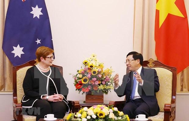 Vietnam-Australie : entretien entre les deux ministres des Affaires etrangeres hinh anh 1