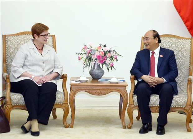 Le PM Nguyen Xuan Phuc recoit la ministre australienne des Affaires etrangeres hinh anh 1