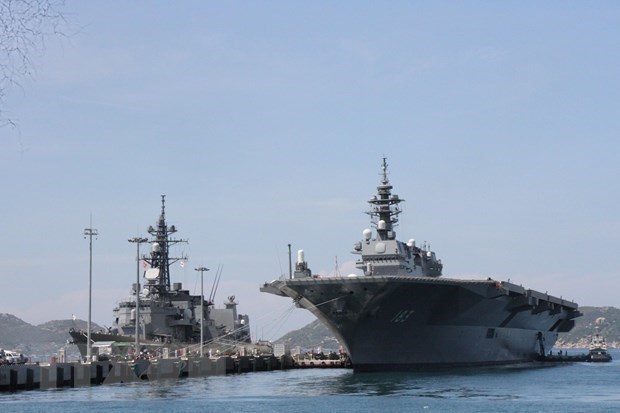 Des navires de la marine japonaise en visite au Vietnam hinh anh 1