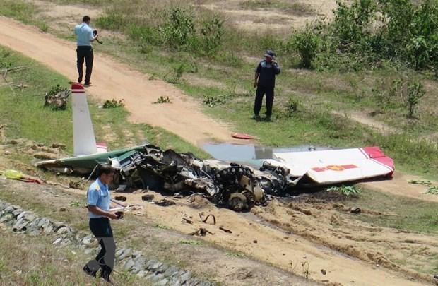 Deux pilotes decedes dans le crash de leur avion d'entrainement hinh anh 1