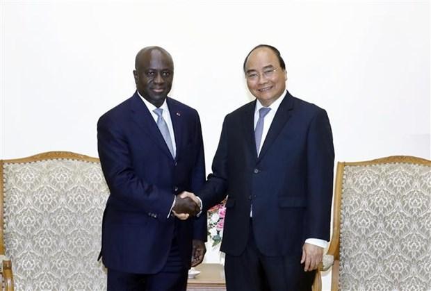 Le Premier ministre recoit le ministre des Affaires etrangeres de Cote d'Ivoire hinh anh 1
