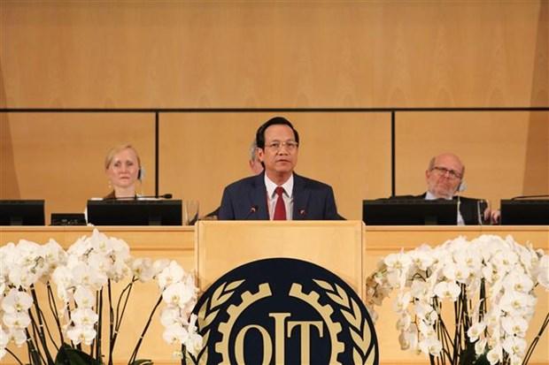 Le Vietnam s'engage a s'efforcer de bien realiser ses devoirs de membre de l'OIT hinh anh 1