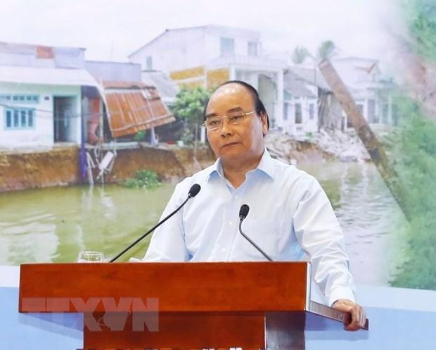 Le PM souligne la prevention pour faire face aux catastrophes naturelles hinh anh 1
