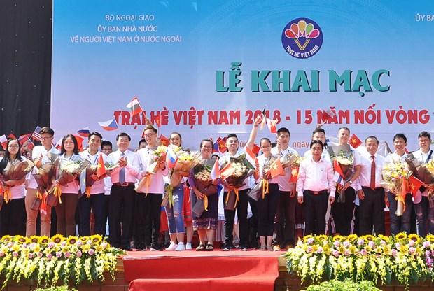 150 jeunes Viet kieu au Camp d'ete du Vietnam 2019 hinh anh 1