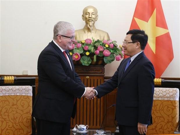 Le vice-PM Pham Binh Minh recoit l'ambassadeur d'Australie hinh anh 1