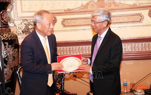 HCM-Ville coopere avec un groupe chinois dans les infrastructures hinh anh 1
