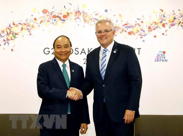 Sommet du G20 : le PM Nguyen Xuan Phuc rencontre des dirigeants etrangers hinh anh 2